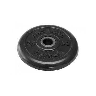 Покупка  Диск обрезиненный черный Arsenal Barbell d-26 2,5 кг   в магазине IntexRelax с доставкой или самовывозом