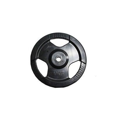 Покупка  Диск обрезиненный черный с ручками H-310 d-31 10кг   в магазине IntexRelax с доставкой или самовывозом