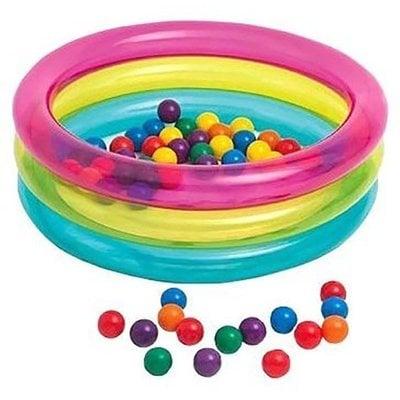 Покупка  Надувной сухой бассейн с шариками Intex 48674NP (86х25см) 1-3 лет   в магазине IntexRelax с доставкой или самовывозом