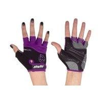 Перчатки для фитнеса STARFIT SU-113 черные/фиолетовые/серые р.S