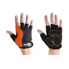 Перчатки для фитнеса STARFIT SU-108 оранжевые/черные р.M