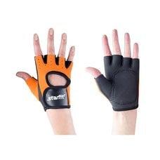 Перчатки для фитнеса STARFIT SU-107 оранжевые/черные р.L