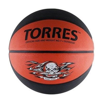 Покупка  Мяч баскетбольный Torres Game Over арт.B00117 р.7   в магазине IntexRelax с доставкой или самовывозом