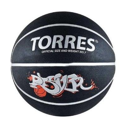 Покупка  Мяч баскетбольный TORRES Prayer черно-серебристо-красный р.7   в магазине IntexRelax с доставкой или самовывозом