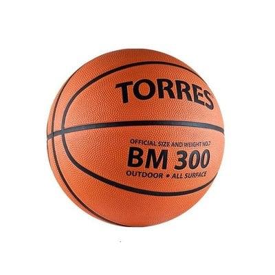 Покупка  Мяч баскетбольный TORRES BM300 р.7, резина, темнооранжевый   в магазине IntexRelax с доставкой или самовывозом