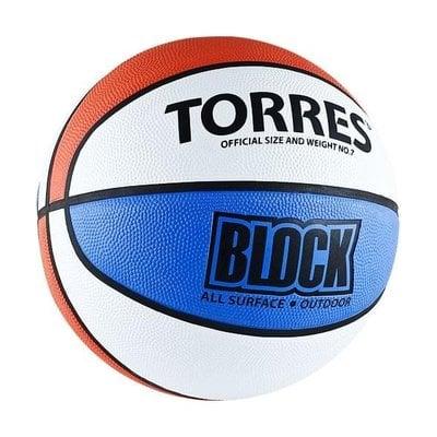 Покупка  Мяч баскетбольный Torres Block арт.B00077 р.7   в магазине IntexRelax с доставкой или самовывозом