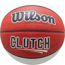 Мяч баскетбольный WILSON Clutch арт.WTB14195XB07 р.7 резина, бутил. камера, красно-бело-черный