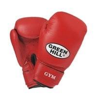 Перчатки боксерские Green Hill GYM BGG-2018 10 унций кожа красные