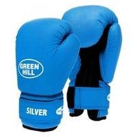 Перчатки боксерские Green Hill Silver BGS-2039 14 унций к/з синий