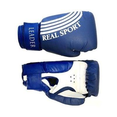 Покупка  Перчатки боксерские LEADER 12 унций (синие)   в магазине IntexRelax с доставкой или самовывозом