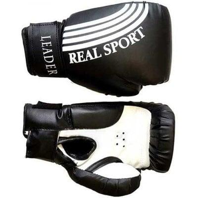 Покупка  Перчатки боксерские LEADER 6 унций (черный)   в магазине IntexRelax с доставкой или самовывозом