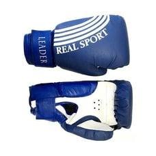 Перчатки боксерские LEADER 10 унций (синие)