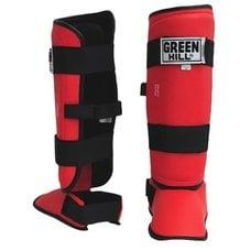 Защита голень-стопа Green Hill Battle SIB-0014 красная р.S