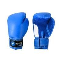 Перчатки боксерские детские Rusco 4 унций к/з синий