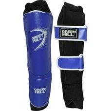 Защита голень-стопа Green Hill SIS-4141-M-BL иск.кожа, синие р.M