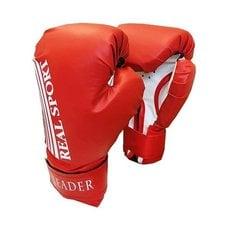 Перчатки боксерские LEADER 12 унций красные