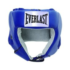 Шлем открытый Everlast USA Boxing 610406U кожа синий р.L