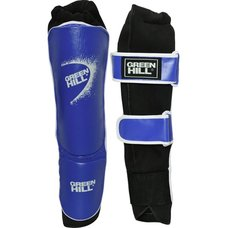 Защита голень-стопа Green Hill SIS-4141-L-BL иск.кожа, синие р.L
