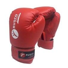 Перчатки боксерские Rusco 10 унций к/з красные