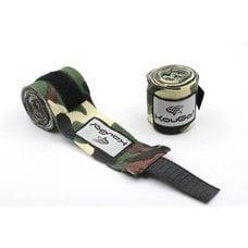 Бинт боксерский KOUGAR K700, 3,5м, эластичный хлопок, камуфляж зеленый