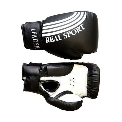 Покупка  Перчатки боксерские LEADER 10 унций, черный   в магазине IntexRelax с доставкой или самовывозом