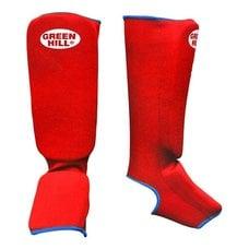 Защита голень-стопа Green Hill SIC-6131 красная р.XL