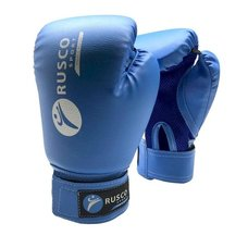 Перчатки боксерские Rusco 10 унций к/з синие