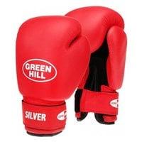 Перчатки боксерские Green Hill Silver BGS-2039 10 унций красный