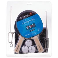 Набор для настольного тенниса Roxel Hobby Progress (2 ракетки, 3 мяча, сетка)