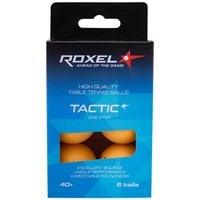 Мяч для настольного тенниса Roxel Tactic 1* оранжевый, 6 шт.