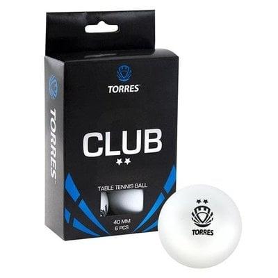 Покупка  Мяч для настольного тенниса Torres Club 2* арт.TT0014   в магазине IntexRelax с доставкой или самовывозом