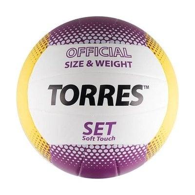 Покупка  Мяч волейбольный TORRES Set р.5, синт. кожа   в магазине IntexRelax с доставкой или самовывозом