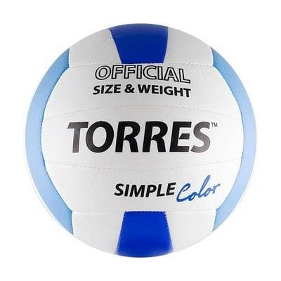 Покупка  Мяч волейбольный Torres Simple Color арт. V30115 р.5   в магазине IntexRelax с доставкой или самовывозом