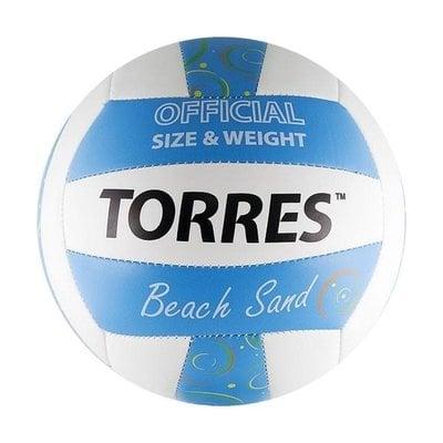 Покупка  Мяч для пляжного волейбола Torres Beach Sand Blue арт.V30095B р.5   в магазине IntexRelax с доставкой или самовывозом
